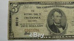 5 $ 1929 Fredonia New York, Ny Banque Nationale Monnaie Note Bill Ch. # 9019 Fine +