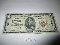 5 $ 1929 Kalispell Montana Mt Note De La Banque Nationale De Billets Bill Ch. # 4803 Fine