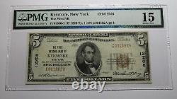 5 1929 Kenmore New York Ny Monnaie Nationale Banque Note Bill Ch. #12208 F15 Pmg