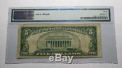 $ 5 1929 Lakeland Florida Fl Banque Nationale Monnaie Note Bill! Ch # 13370 Fin Pmg