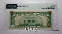 5 1929 Lincolnton Caroline Du Nord Nc Monnaie Nationale Banque Note Bill #6744 Vf30