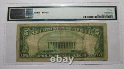 5 $ 1929 Mineola New York, Ny Banque Nationale Monnaie Note Bill! Ch. # 9187 Pmg F12