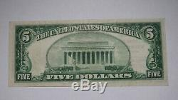 $ 5 1929 Myerstown Pennsylvania Pa Banque Nationale Monnaie Note Bill! # 5241 Xf +