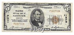 5 $ 1929 Nashwauk Minnesota National Currency Bank Note Bill Ch. # 11579