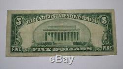 $ 5 1929 Pennsylvania Hazleton Pa Banque Nationale Monnaie Note Bill Ch. # 3893 Vf