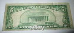 5 $ 1929 Perth Amboy New Jersey Nj Banque Nationale Monnaie Note Bill! # 12524 Rare