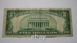 $5 1929 Riverside California Ca National Currency Bank Note Bill Ch. #8907 Fine
