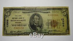 $ 5 1929 Soldiers Grove Wisconsin Wi Banque Nationale Monnaie Note Bill Ch. # 13308