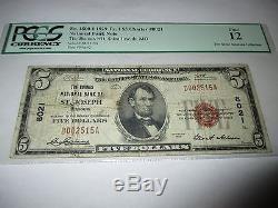 $ 5 1929 St. Joseph Missouri Mo Note De La Banque Nationale De Billets Bill # 8021 Fine Pcgs