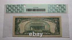 5 $ 1929 Tucson Azona Az National Bank Banque Bill Ch. # 4287 Pcgs Vf30