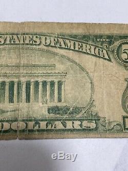 5 $ 1929 Union Alabama Ressorts Al Banque Nationale Monnaie Note Bill Ch. # 7467 Rare