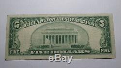 5 $ 1929 Victoria Texas Tx Billets De Banque En Billets De Banque Nationaux Bill Ch. # 10360 Vf + Rare