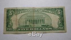 $ 5 1929 Vinita Oklahoma Ok Banque Nationale Monnaie Note Bill Ch. # 4704 Fin