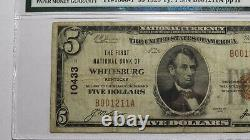 $5 1929 Whitesburg Kentucky Ky Banque De Monnaie Nationale Note Bill! #10433 Vf20 Pmg
