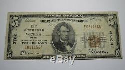 5 $ 1929 Wichita Kansas Ks Banque Nationale Monnaie Note Bill! Ch. # 2782 Fin