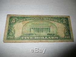 5 $ 1929 Youngstown Ohio Oh Billets De Banque En Billets De Banque Nationaux Bill Ch. # 13586 Fin