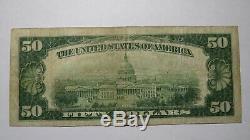 50 $ 1929 Billet De Billet De Banque National MI Michigan Grand Rapids Michigan Mi! Ch. # 3293