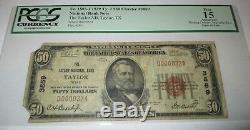 50 $ 1929 Billet De Monnaie Nationale Taylor Texas Tx - Billets De Banque Ch. Bill. # 3859 Pcgs Fin