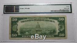 50 $ 1929 Cedar Rapids Iowa Ia Banque Nationale Monnaie Note Bill # 2511 Vf30 Pmg