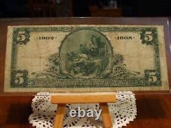 902 Date De Retour $5 Monnaie Nationale, La Banque Nationale De Holston De Knoxville, Vf