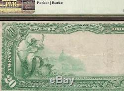 Au 1902 20 Dollars Banque Nationale D'indépendance Iowa Note Pmg Grande Devise 50