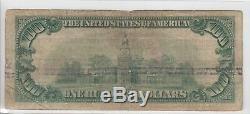 Banque Fédérale De Réserve De Chicago, 1929, Billet De 100 Dollars Us Libellé En Monnaie Nationale G00271743a
