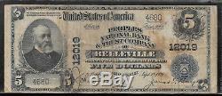 Belleville, New Jersey Nj! 5 $ 1902 Peoples Nat'l Bank & Trust Monnaie Nationale