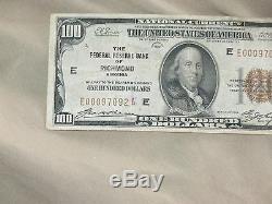 Billet De 1929 Brown Monnaie Nationale: Billet De 100 Dollars Banque De Réserve Fédérale De Richmond
