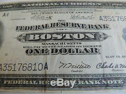 Billet De Banque De 1 500 $ Boston De La Réserve Fédérale Américaine, 1918