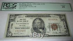 Billet De Banque National En Devise Charlotte Michigan MI 1929