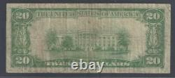 Caldwell, New Jersey Nj! 20 $ 1929 Caldwell Banque Nationale Monnaie Nationale Essex
