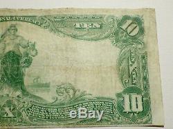 Ch # 1243 10 $ 1902 Banque Nationale Monnaie Note Plain Retour New Haven, Ct