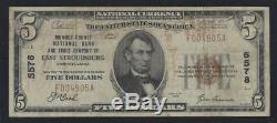 East Stroudsburg, Pennsylvanie Pa $ 5 1929 Monroe Banque Nationale Monnaie Nationale