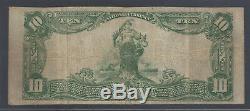 Elgin, Illinois Il! 10 $ 1902 Monnaie Nationale Union National Bank Kane Scarce