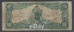 Elmira, New York Ny! 10 $ 1902 2 Banque Nationale Chemung Monnaie Nationale Scarce