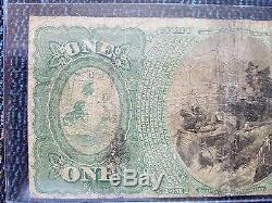 Erie, Pa 1865 $ 1 2nd Nat Bank 606 Banque Devise Nationale 3 Connue Par Kelly Book