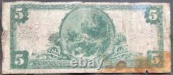 États-unis 5 Dollars 1902 Monnaie Nationale 5 $ Louisville Kentucky Rare Billet #17836