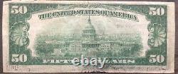 États-unis 50 Dollar 1929 Monnaie Nationale 50 $ Cleveland Selten Billet #11926