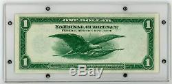 Fr. 1 1918 $ 737 Réserve Nationale Monnaie Fédérale De Billets De Banque Kansas City Xf / Au