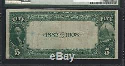 Fr. 537 1882 Monnaie Nationale 5 $ Ayers Banque Nationale Jacksonville IL Pmg Vf 25