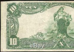 Grand 1902 $ 10 Dollar Kittanning Banque Nationale Note Devise Vieux Billets