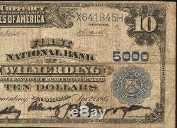 Grand 1902 $ 10 Dollar Wilmerding Banque Nationale Note Devise Vieux Billets