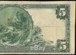 Grand 1902 5 $ Dollar Banque Nationale De Boston Note Sceau Rouge Monnaie Papier Monnaie