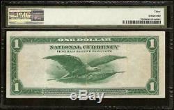Grand 1918 $ 1 Dollar Bill Vert Eagle Bank Note Monnaie Nationale Fr 708 Pmg 30