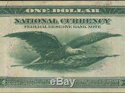Grand 1918 Billets De 1 Dollar Vert Eagle En Banque Note Monnaie Nationale 717 Pmg