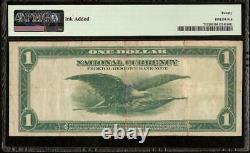 Grand Billet De 1918 $1 Dollar Green Eagle Bank Note National Currency Fr 713 Pmg Vf