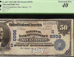 Grande Billet De Monnaie Nationale De Monnaie Mondiale De 1902 $ 50 Bank Fr 667 Pcgs 40