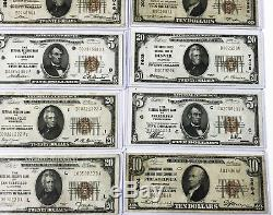 Grande Collection 1929 Réserve Fédérale Billets De Banque De Monnaie Nationale Billets De Banque
