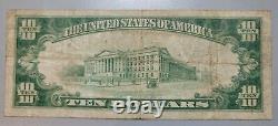 Laramie, Wyoming 1929 Note Nationale. Charte 4989. Monnaie Des Banques De Billets Wy Wyo