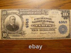 Monnaie Nationale $10- Exchange National Bank Of Tampa Florida Charter 4949